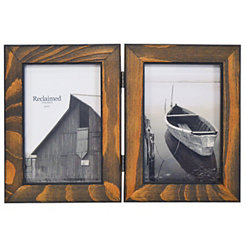 Espresso Stained Wood 2-Opening Picture Frame, 4x6