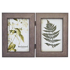 Graywashed Wood 2-Opening Picture Frame, 4x6