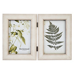 White Wood 2-Opening Picture Frame, 4x6