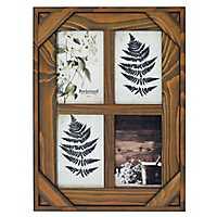 Espresso Windowpane 4-Opening Collage Frame