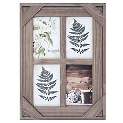 Graywashed Windowpane 4-Opening Collage Frame