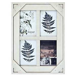 White Windowpane 4-Opening Collage Frame