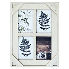 White Windowpane 4-Opening Collage Frame