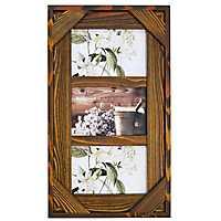 Espresso Windowpane 3-Opening Collage Frame