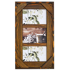Espresso Windowpane 3-Opening Collage Frame