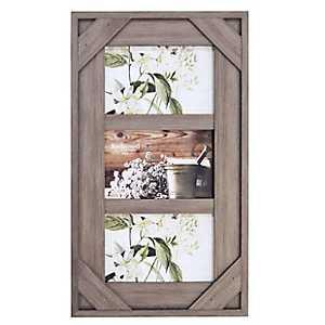 Graywashed Windowpane 3-Opening Collage Frame