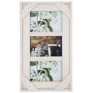 White Windowpane 3-Opening Collage Frame