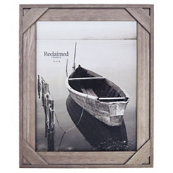 Graywashed Windowpane Picture Frame, 11x14
