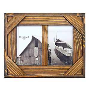 Espresso Windowpane 2-Opening Collage Frame