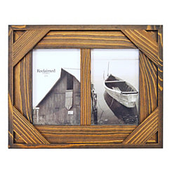 Espresso Windowpane 2-Opening Collage Frame