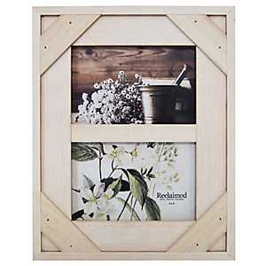 White Windowpane 2-Opening Collage Frame