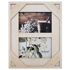 White Windowpane 2-Opening Collage Frame
