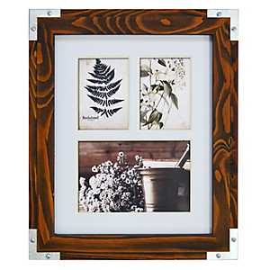 Espresso Stained Metal Corner Collage Frame