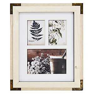 White Metal Corner Collage Frame
