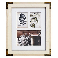 White Metal Corner Collage Frame