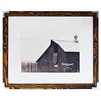 Espresso Metal Corner Matted Picture Frame, 16x20