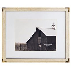 White Metal Corner Matted Picture Frame, 16x20
