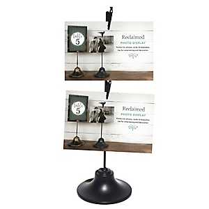 Black Double Clip Picture Stand