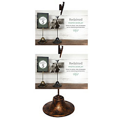 Bronze Double Clip Picture Stand
