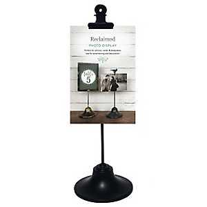Black Single Clip Picture Stand