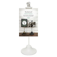 White Single Clip Picture Stand