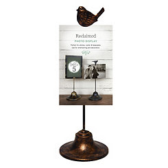 Bronze Bird Clip Picture Stand