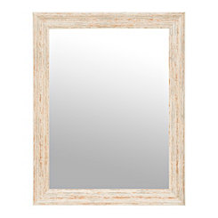 Distressed Off-White Framed Mirror