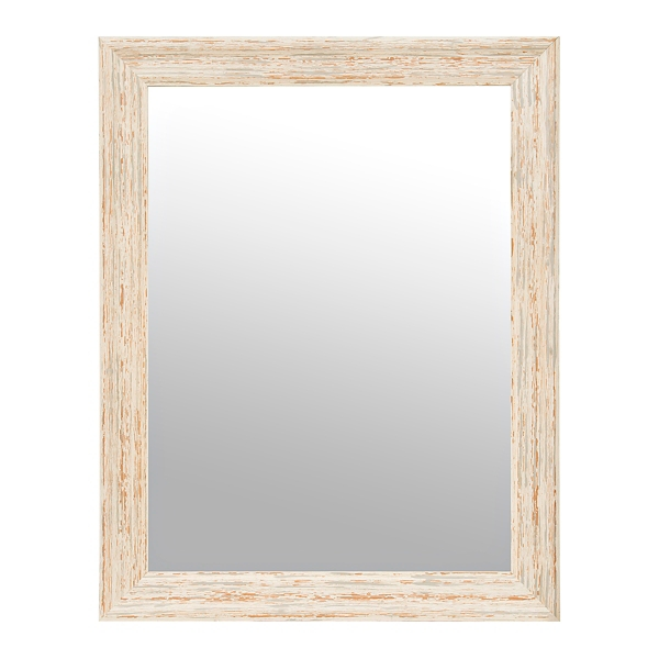Distressed Off White Framed Mirror Part 51