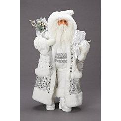 White Winter Santa Figurine