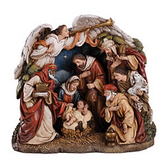One Piece Overarching Angel Nativity Scene