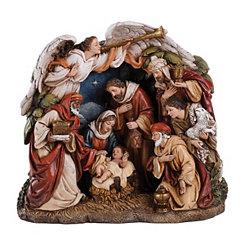 One Piece Overarching Angel Nativity Scene