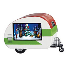 Christmas Camping Musical LED Trailer