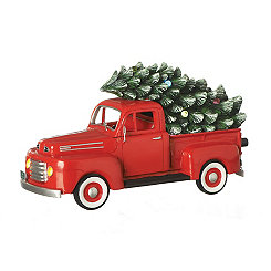 Pre-Lit Musical Truck and Tree Statue