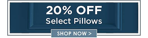 20% Off Select Pillows - Shop Now