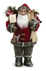 Santa With Skis Figurine