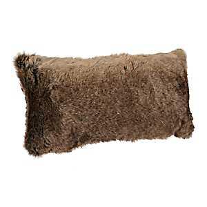 Brown Faux Fur Accent Pillow