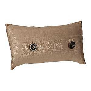Gold Metallic Velvet Accent Pillow
