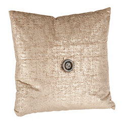 Gold Metallic Velvet Pillow