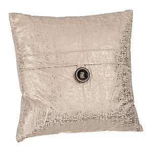 Cream Metallic Velvet Pillow