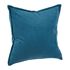 Teal Washed Velvet Pillow