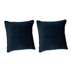 Solid Teal Velvet Pillows, Set of 2