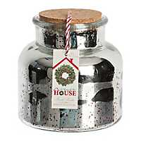 All Through the House Mercury Glass Jar Candle