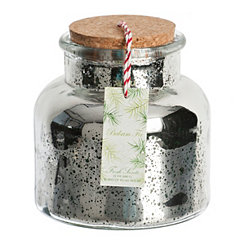 Balsam Fir Mercury Glass Jar Candle