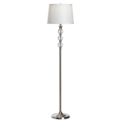 Crystal and Silver Metal Floor Lamp