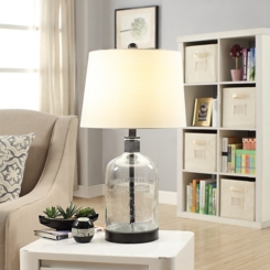 Metal and Glass Jug Table Lamp