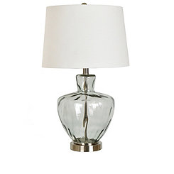 Textured Glass and Metal Jug Table Lamp