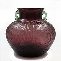 Zanzibar Glass Urn Vase, 10.5 in.