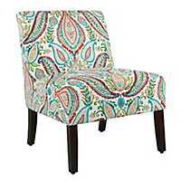Carson Bold Paisley Slipper Chair