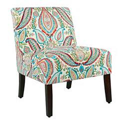 Carson Bold Paisley Armless Accent Chair