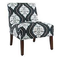 Carson Global Navy Armless Accent Chair